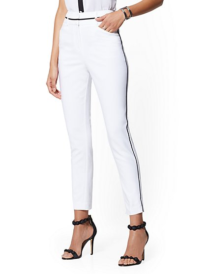 Piped Ankle Pant - All-Season Stretch - 7th Avenue - New York & Company