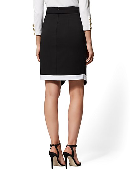 f1c88fb90846 ... Piped Belted Pencil Skirt - All-Season Stretch - 7th Avenue - New York  ...