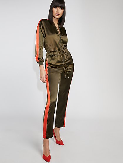 Piped Half-Zip Jumpsuit - Gabrielle Union Collection - New York & Company