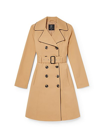 Piped Trenchcoat - 7th Avenue - New York & Company