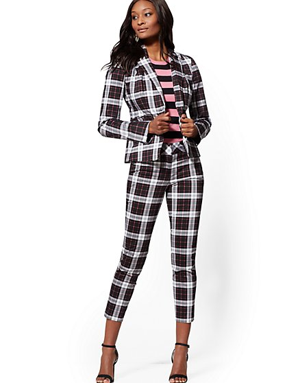 Plaid Ankle Pant - Modern Fit - 7th Avenue - New York & Company