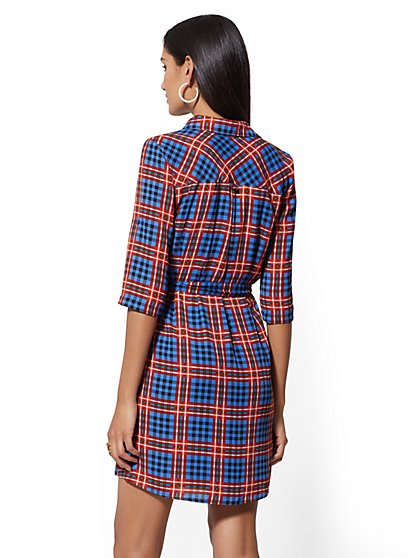 2d4d091597 ... Plaid Belted Shirtdress - New York   Company