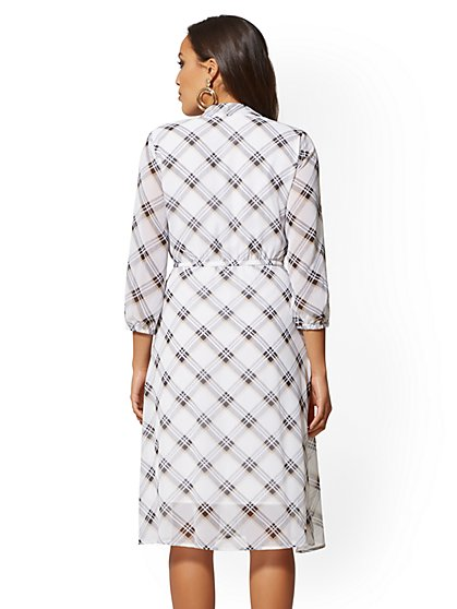 45c417e2297d ... Plaid Bow-Accent Shirtdress - New York   Company ...