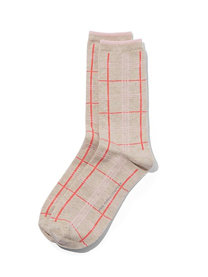 Plaid Crew Sock - New York & Company