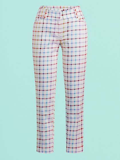 Plaid Modern Ankle Pant - 7th Avenue - New York & Company