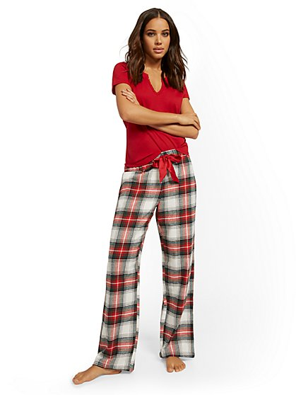 Plaid Pajama Set - New York & Company