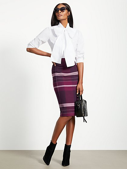 Plaid Pencil Skirt - 7th Avenue - New York & Company