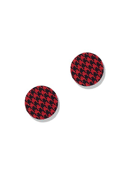 Plaid Post Earring - New York & Company
