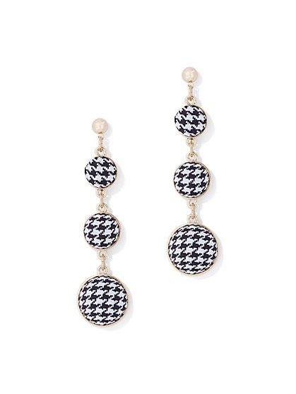 Plaid Spherical Drop Earring - New York & Company