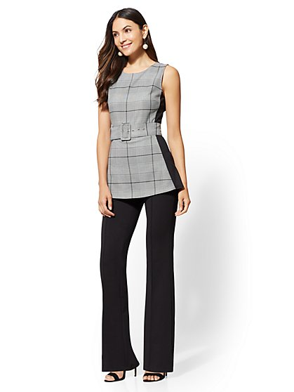 Plaid Twofer Jumpsuit - New York & Company