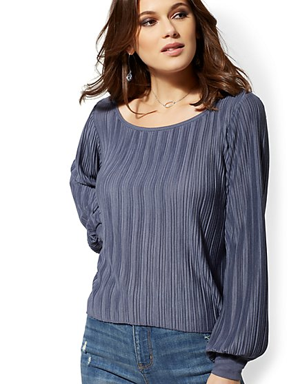 Pleated Crop Top - New York & Company