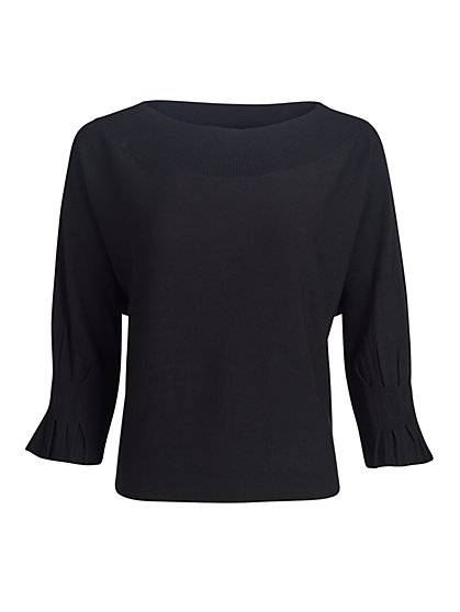 Pleated-Cuff Dolman-Sleeve Sweater - New York & Company