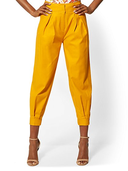 Pleated Slim Ankle Pant - 7th Avenue - New York & Company