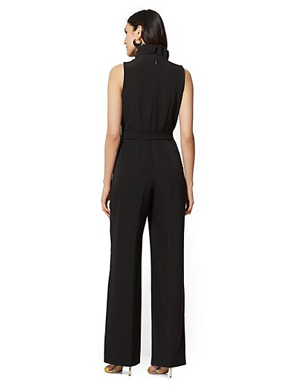 f8e60a034a8c ... Pleated V-Neck Jumpsuit - New York   Company