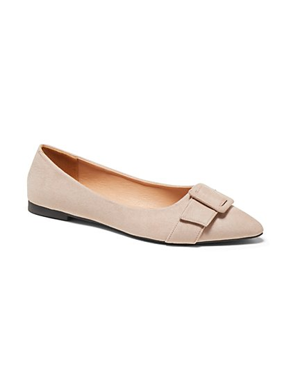 Pointed Buckle-Toe Flat - New York & Company