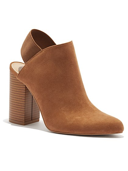 Pointed-Toe Mule Bootie - New York & Company