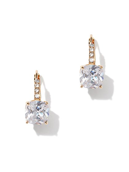 Polished Cubic Zirconia Drop Earring - New York & Company