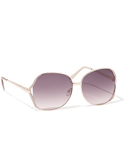 Polished Goldtone Sunglasses - New York & Company