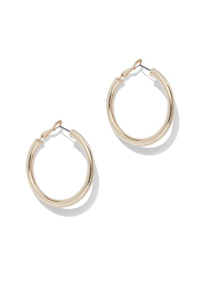 Polished Hoop Drop Earring - New York & Company