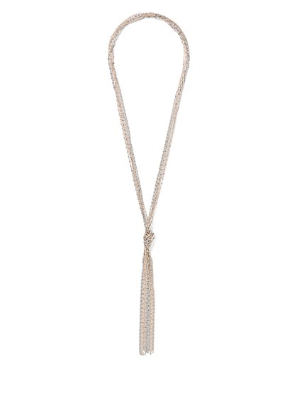 Polished Knot Pendant Necklace - New York & Company