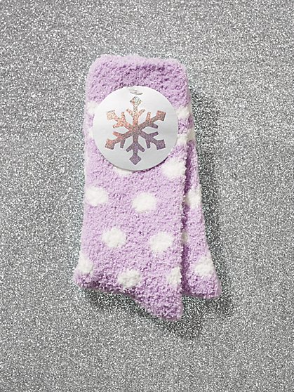 Polka-Dot Cozy Socks - New York & Company
