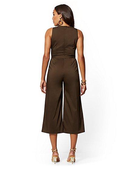 2059e828d981 ... Poplin Culotte Jumpsuit - New York & Company ...