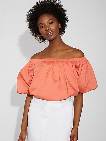 Poplin Off-The-Shoulder Top - Gabrielle Union Collection - New York & Company