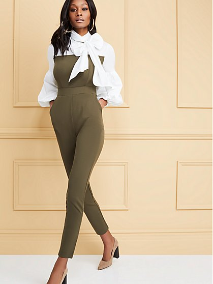 Poplin Twofer Jumpsuit - New York & Company