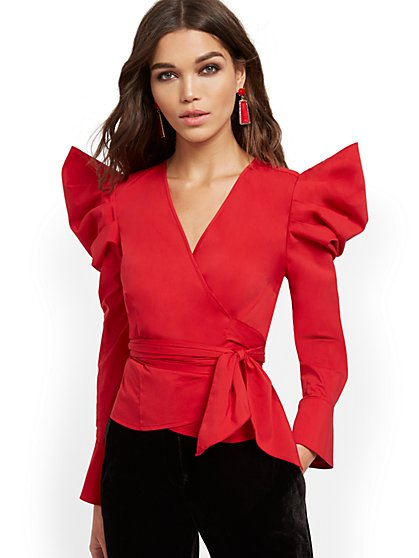 Poplin Wrap Shirt - New York & Company