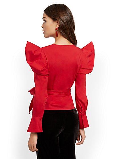 Poplin Wrap Shirt - New York & Company