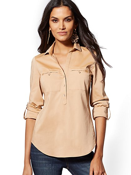 b2a47808 Popover Madison Stretch Shirt - 7th Avenue - New York & Company ...