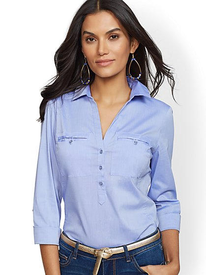 Popover Madison Stretch Shirt - 7th Avenue - New York & Company