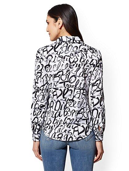 7bb41f90a026 ... Popover Madison Stretch Shirt - Graffiti Print - 7th Avenue - New York    Company