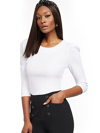 Puff-Sleeve Blouse - New York & Company