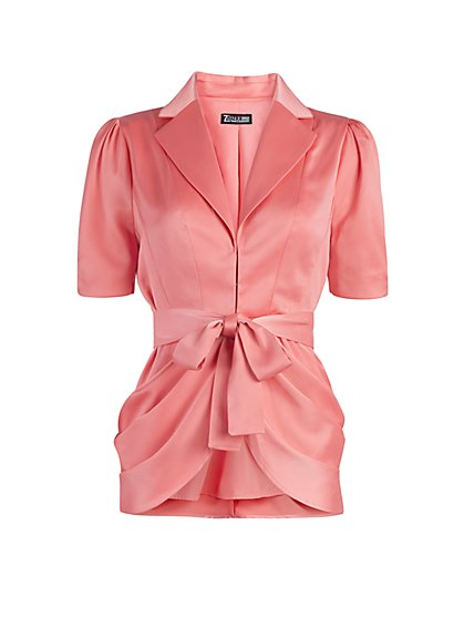Puff-Sleeve Draped Jacket - New York & Company