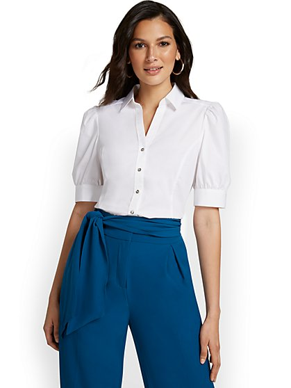 Puff-Sleeve Madison Shirt - 7th Avenue - New York & Company