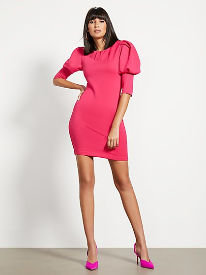 Puff-Sleeve Sheath Dress - New York & Company