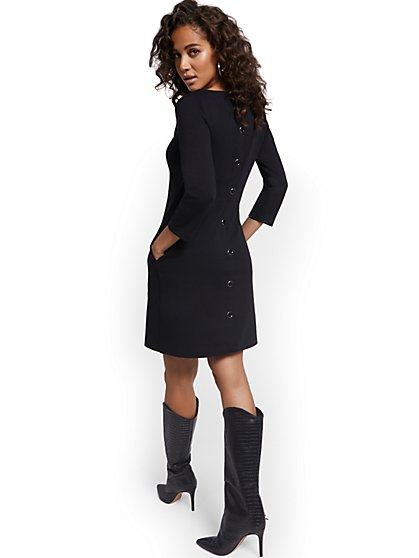 Puff-Sleeve Shift Dress - New York & Company