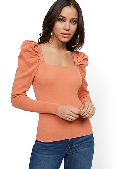 Puff-Sleeve Sweater - New York & Company