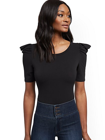 Puff-Sleeve Top - New York & Company