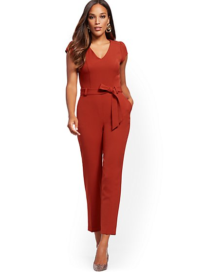 Puffed Cap-Sleeve Madie Jumpsuit - New York & Company