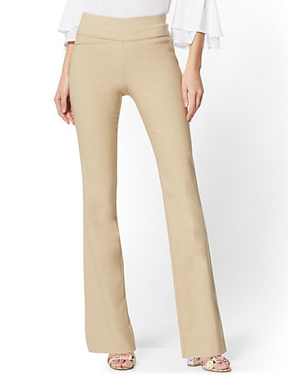 Pull-On High-Waist Bootcut Pant - New York & Company