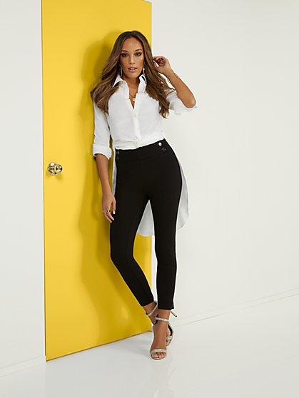Pull-On Skinny Zip Ankle Pant - Superflex - New York & Company