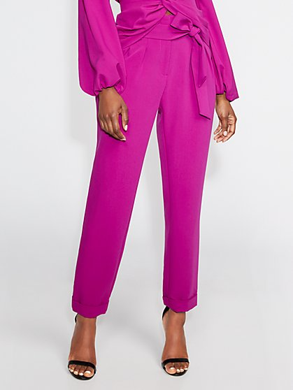 Purple Cuffed Slim Pant - Gabrielle Union Collection - New York & Company