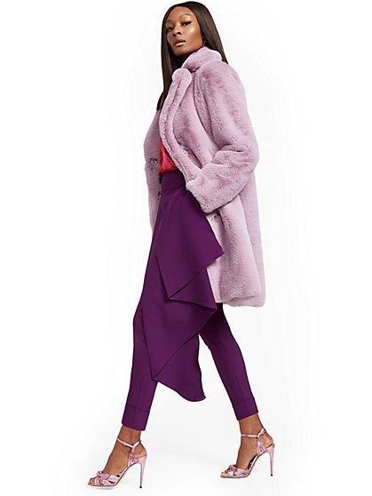 Purple Faux-Fur Jacket - New York & Company