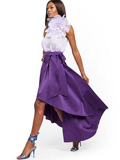 Purple Hi-Lo Maxi Skirt - 7th Avenue - New York & Company