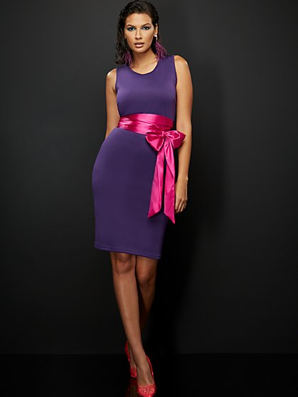 Purple Sheath Dress - New York & Company