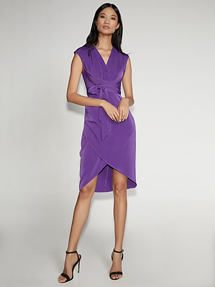 Purple Wrap Sheath Dress - Gabrielle Union Collection - New York & Company