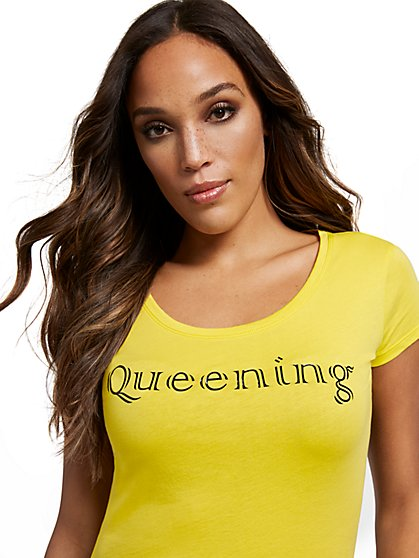 Queening Graphic Tee - New York & Company