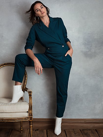 Quest Stretch Twill Jumpsuit - New York & Company